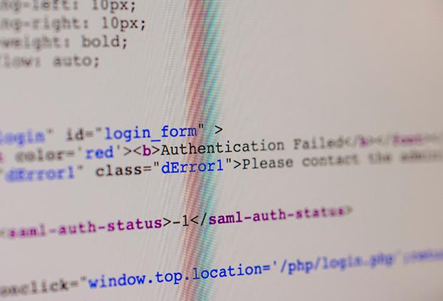 Foto de código html y código php