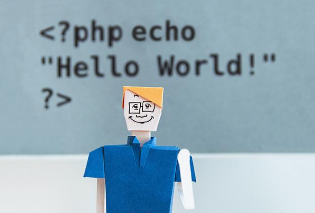 Figura de un muñeco de papel con código php por detrás